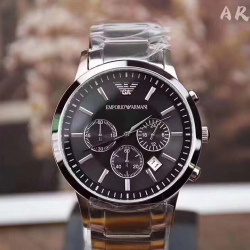 Emporio Armani Men's Classic Chronograph Stainless Steel Black Dial #AR2434 (產品編號: S000795)