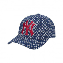 Mlb Monogram Curve Adjustable Cap New York Yakees #32CPFB911-50N Navy