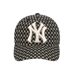 Mlb Monogram Curve Adjustable Cap New York Yakees #32CPFB911-50L Black