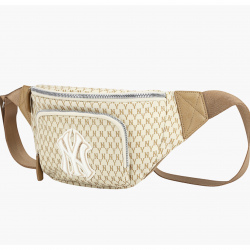 MLN New York Yankees Monogram Waist Bag #32BGC9911 (Beige) (產品編號: S000390)